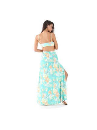 Tulle & Batiste Camelia Maxi Skirt Turquoise