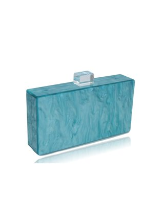 Milanblocks Blue Lips Acrylic Box Clutch