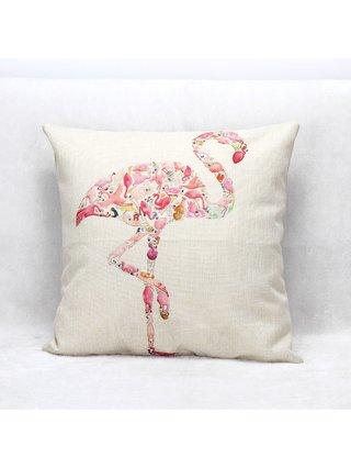 Arcade Attire Tropical Flamingo Cushion Cover