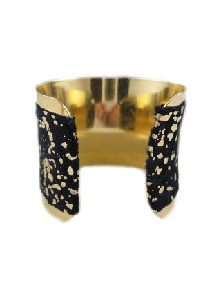 MizDragonfly Vintage Black And Gold Studio 54 Cuff