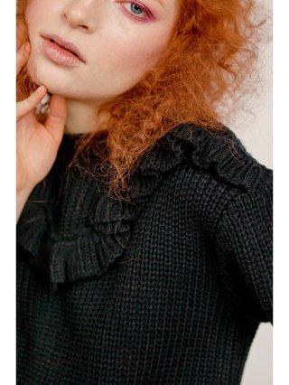 Hilary MacMillan Ruffle Collar Knit