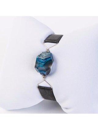 Monoxide Style What Time Is It Mr. Wolf Bracelet - Blue Agate