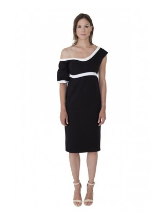 LIZA VETA COTTON ASYMMETRIC DRESS