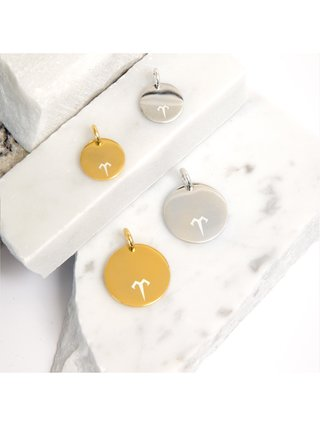 Ternary London SMALL COIN CHARM PENDANT GOLD