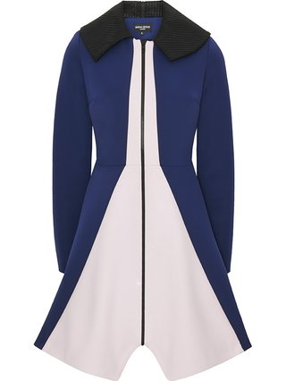 Sarah Bond Bo Bardi Navy Pink Coat