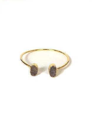 Kari C.  Druzy quartz bracelet