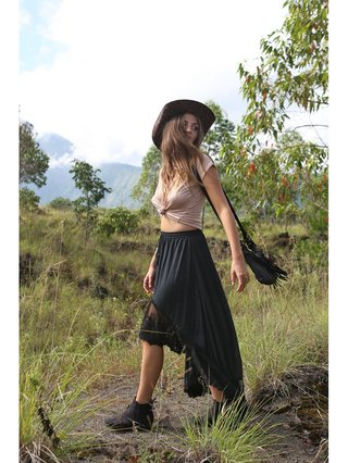 Tulle & Batiste Fairy Love Maxi Skirt Black