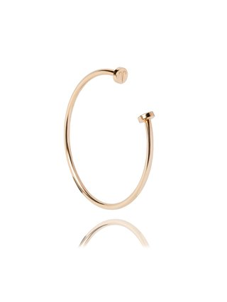 Ternary London TERNARY TIMELESS 18CT GOLD PLATED STERLING SILVER OPEN BANGLE