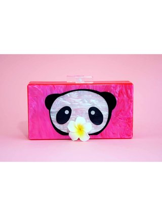 Hot Pink Acrylic Box Clutch