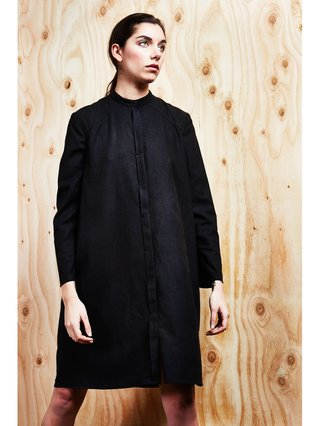 Raw Silk Shirt Dress
