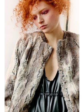 Hilary MacMillan Faux Fur Jacket
