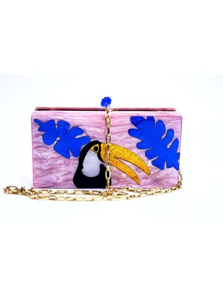 Tropical Toucan Perspex Clutch