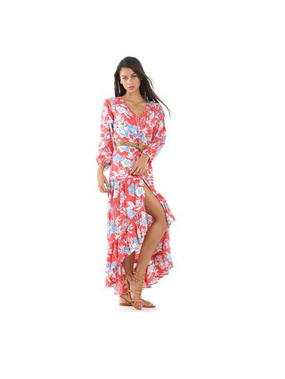 Tulle & Batiste Camelia Maxi Dress Red