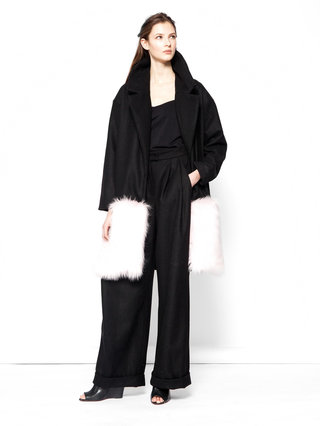 Hilary MacMillan Faux Fur Hem Jacket