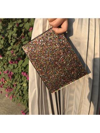 Milanblocks Rainbow Glitter Acrylic Box Clutch