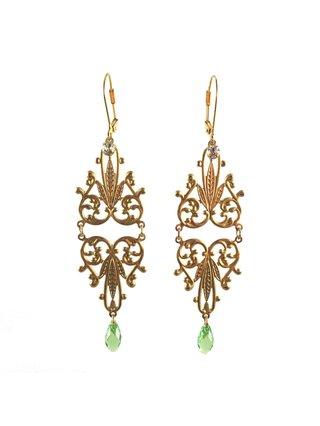 MizDragonfly Nicole Earrings Green