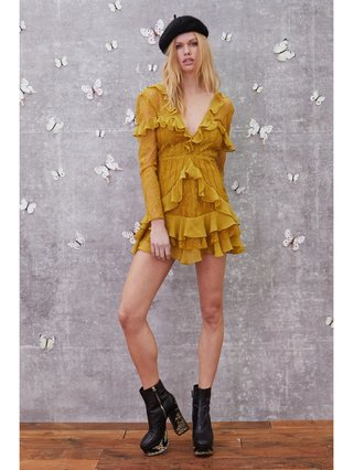 For Love & Lemons Daphne Lace Mini Dress