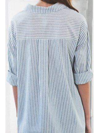 Arcade Attire Boyfriend Stripe Shirt