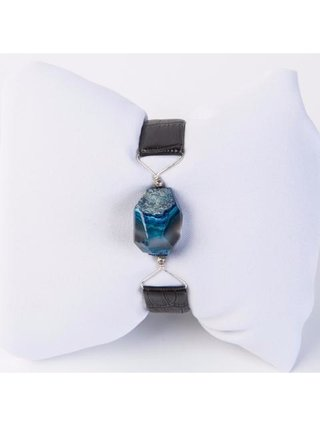 Monoxide Style What Time Is It Mr. Wolf Bracelet - Blue Agate