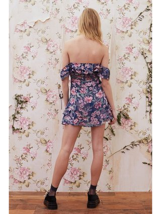 For Love & Lemons Flora Off Shoulder Mini Dress
