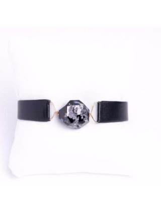Monoxide Style What Time Is It Mr. Wolf Bracelet - Black Leather