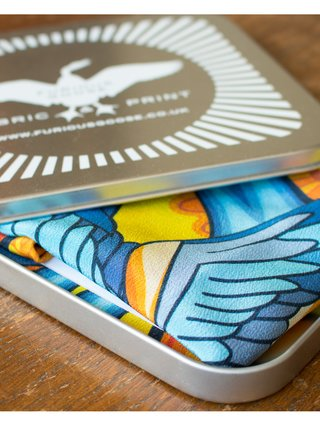 Furious Goose We are on a journey – Silk Pocket Square Yellow