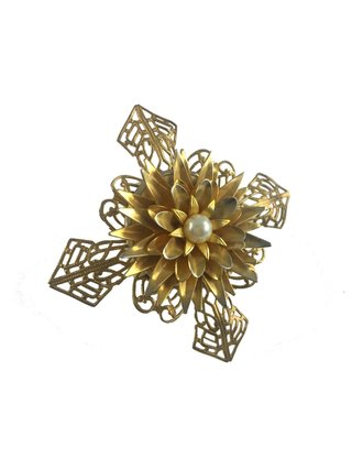 MizDragonfly Wild Child Flower Wood Ring