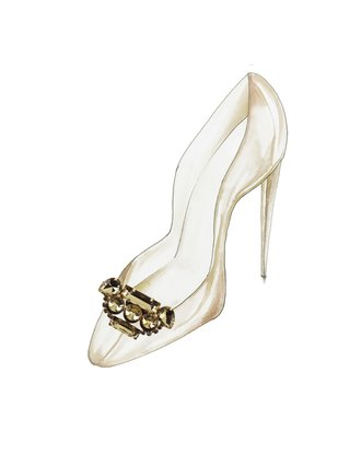 Kari C. Gold Art Deco Shoe Bijoux clip