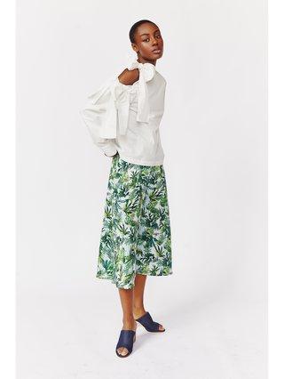 Hilary MacMillan Asymmetrical Tie Blouse