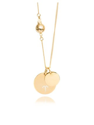 Ternary London DOUBLE COIN PENDANT NECKLACE GOLD