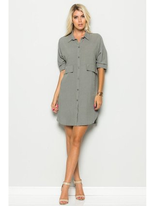 Arcade Attire Button Down Dress