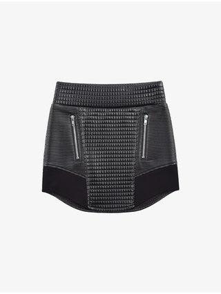 Cara Cheung Curve Hem Moto Skirt