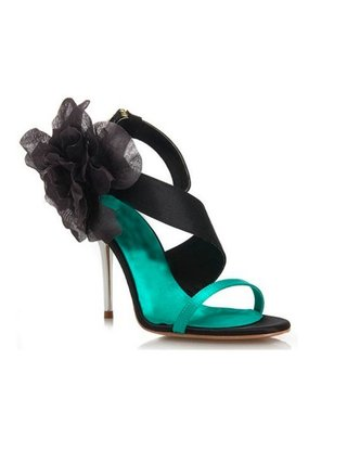 Kari C. Jasmin Turquoise Green Evening Sandals
