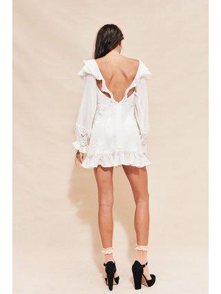 For Love & Lemons Crema Silk Linen Dress