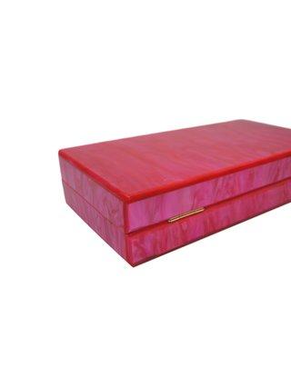 Milanblocks Electric Pink Acrylic Box Clutch