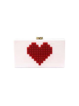 Milanblocks Heart Lego Acrylic Box Evening Clutch
