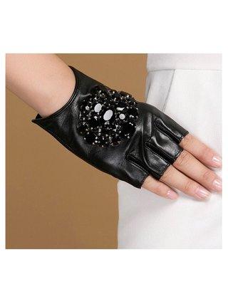 Kari C.  Embellished leather gloves