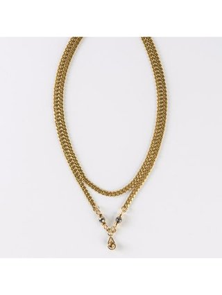 Monoxide Style Atlas Double Layer Necklace-Pyrite
