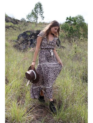Savannah Maxi Dress Chestnut