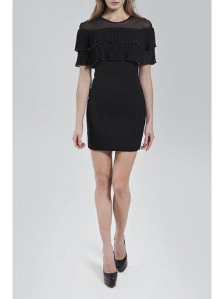 Narces Black Mini Frill Dress