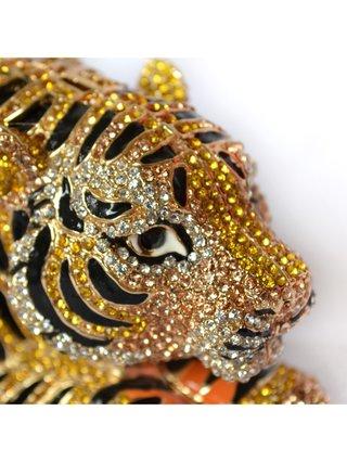 Milanblocks Tiger Rhinestone Evening Clutch