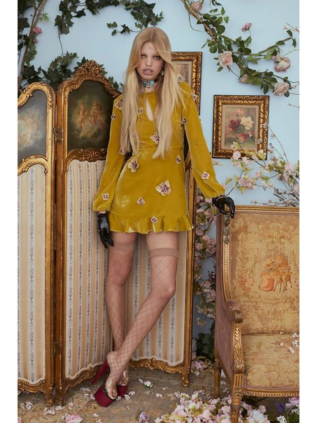 For Love & Lemons Papillon Mini Dress