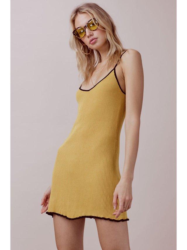 For Love & Lemons Ruffle Edge Tank Dress