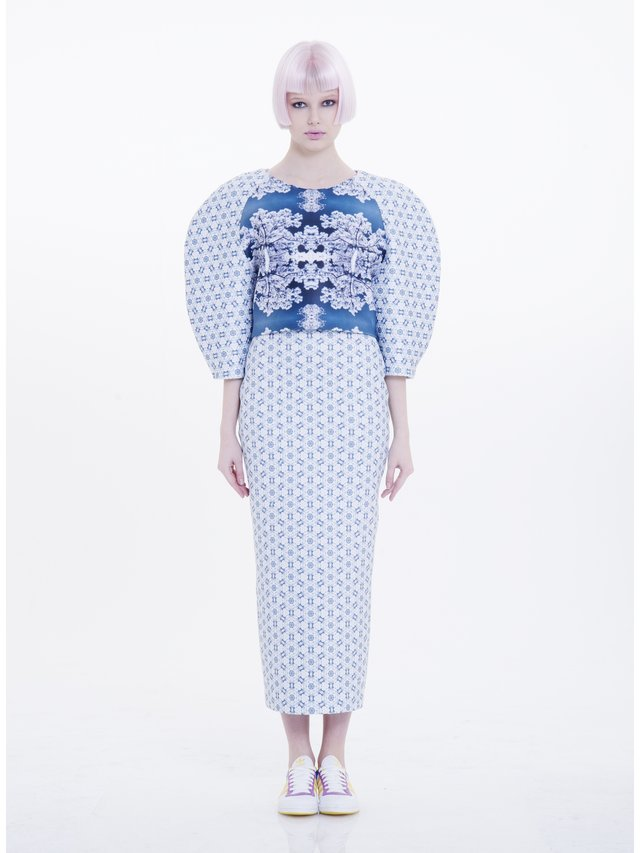 Ece Ozalp No:8 – Scuba Printed Skirt