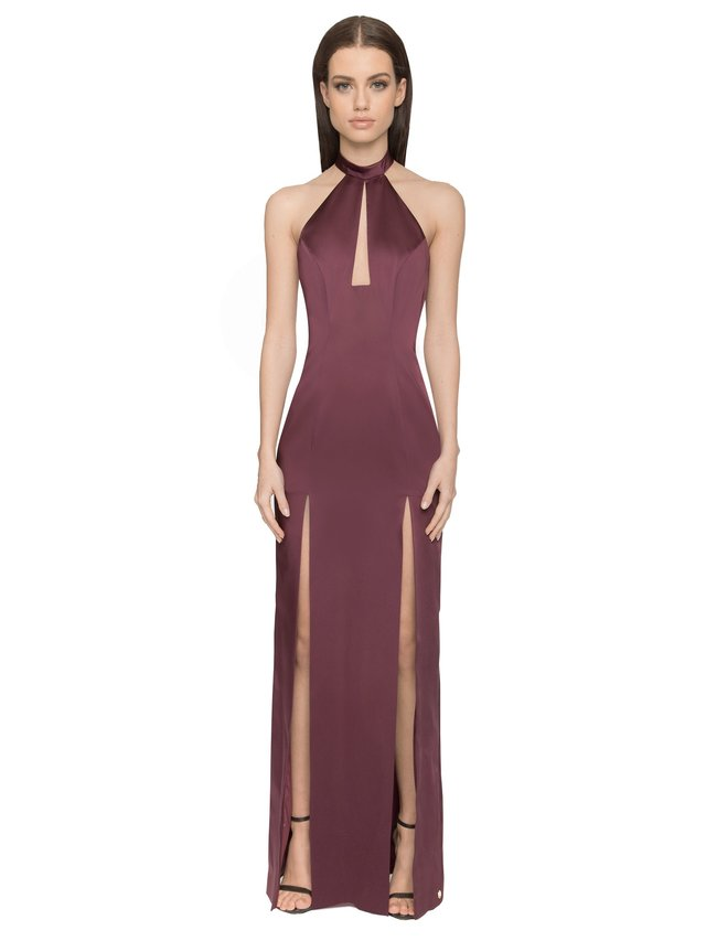 Aloura London Saffron Gown - Berry