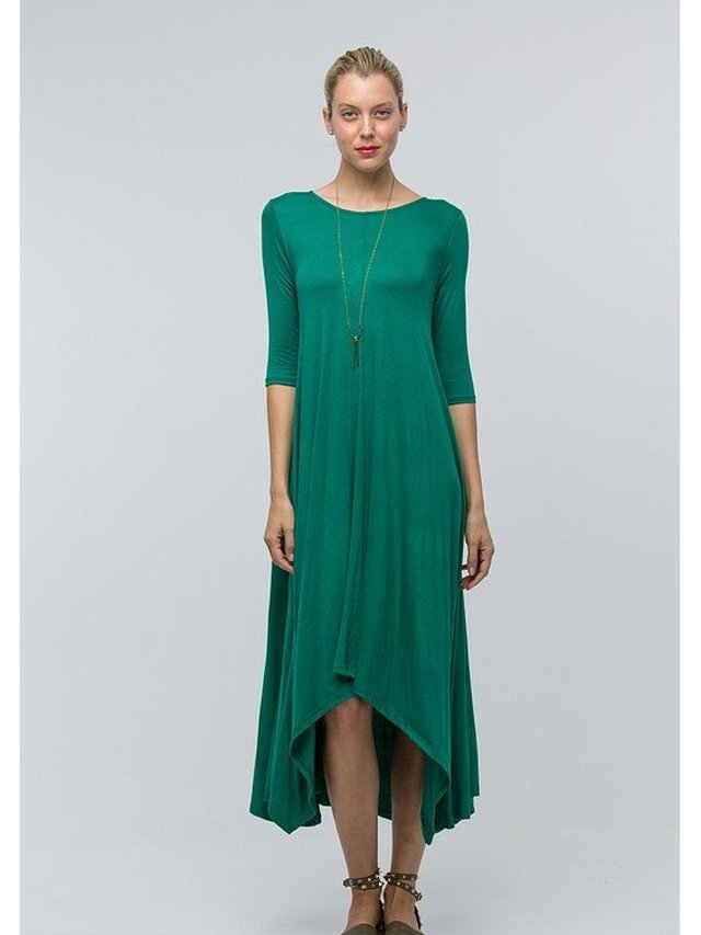 Arcade Attire Draped Maxi Pocket Dress - Kelly Green