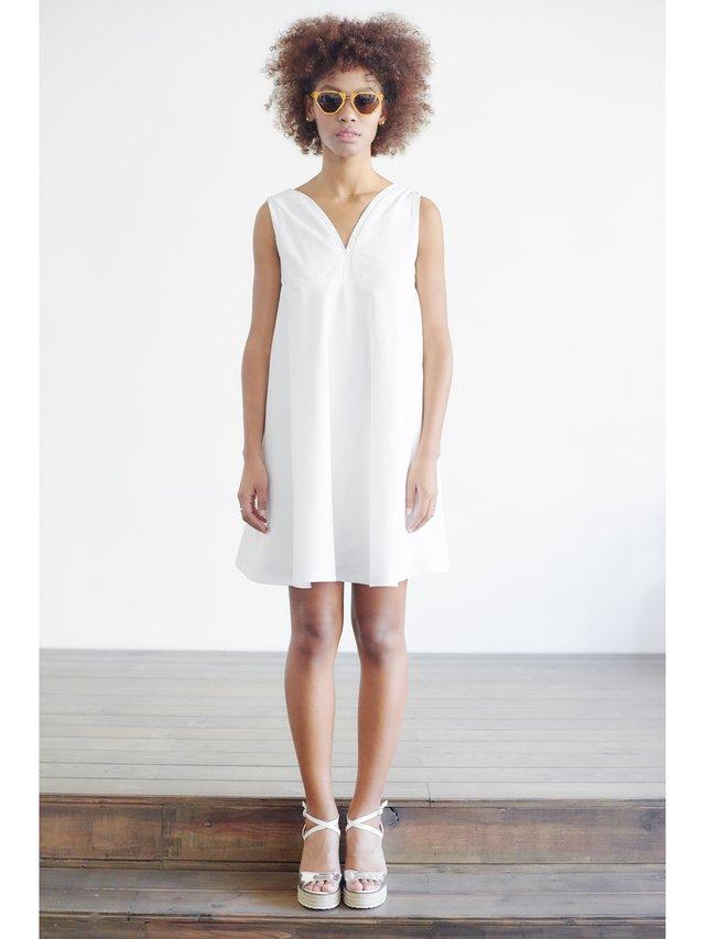 HB By Hanna Baranava Simple White Dress