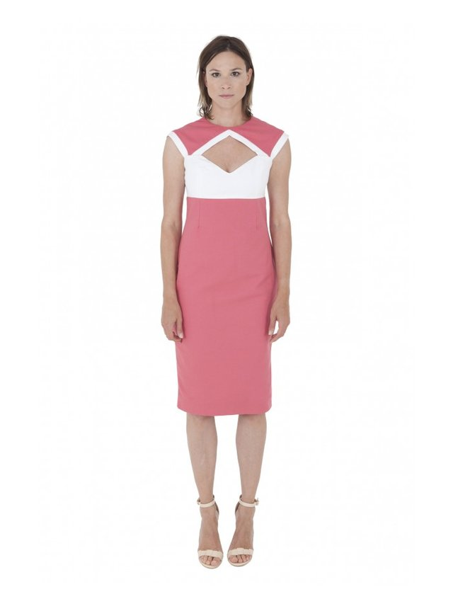 LIZA VETA COTTON GEOMETRIC DRESS