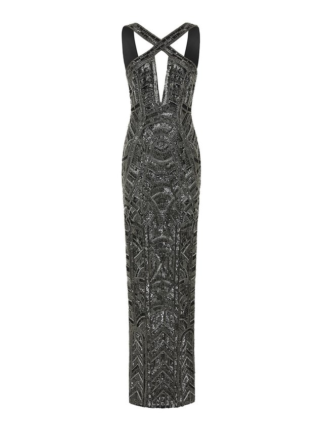 Aloura London Estelle Gown - Graphite
