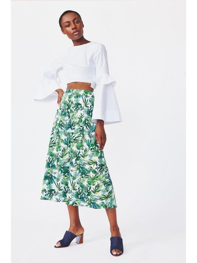 Hilary MacMillan Palm Print Culottes